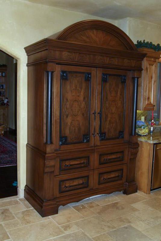 Custom Refrigerator Cabinet
